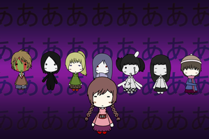 Yume Nikki Characters by Miserable-in-Orange