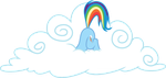 Rainbow with her head in the clouds by porygon2z