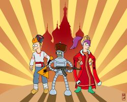 Futurama in the Russian style by KalininVictor