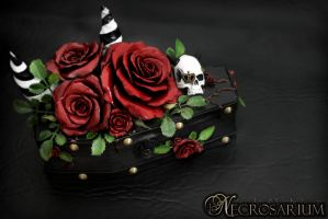 Vampire's Rosarium Coffin Jewelry Box by Necrosarium