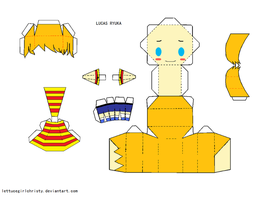 Papercraft MOTHER 3 Lucas by lettucegirlchristy