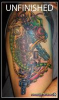 Robot Arm Tattoo by camsy