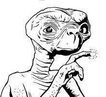 ET Drawing by dirtyinks
