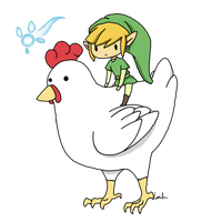 Link and the Cuckoo by Akita48