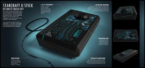Starcraft II Fighting Stick Finalized by MauricioRomano