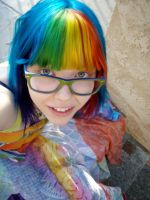 Rainbow girly by MeganYourFace