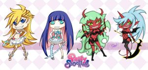 Panty and Stocking Chibis by evilitachi