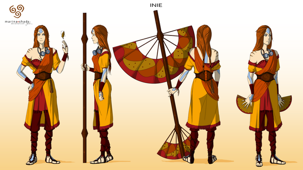 Inie -Avatar character concept design- by Marina-Shads