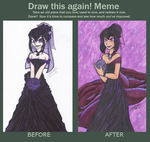 Before and After- Sam's Wedding dress by CartoonFreakshow