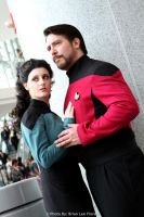 Star Trek TNG - Troi and Riker (WonderCon 2012) by BrianFloresPhoto