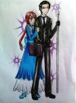 Commission: Kira and William by Midnyte-Wolff