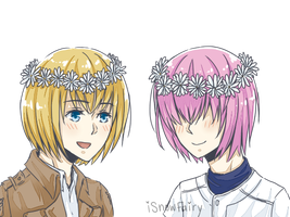 20140513 - Armin And Harucchi by iSnowFairy