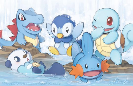 The Water Starters by missypena
