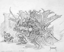 Forgotten Realms pencils by Dubisch