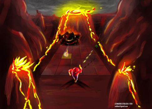 Fire level Concept Art by SOLIDOST