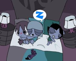 sleeping ppg's by toongrowner