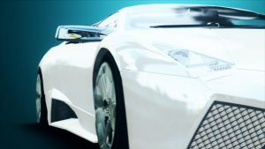 Lambohirini reventon and BMW M3 GTR 3d animation by amar5261