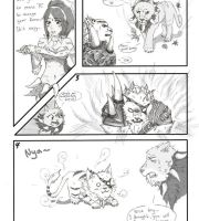 Nidalee and Rengar - Comic by Nyandalee
