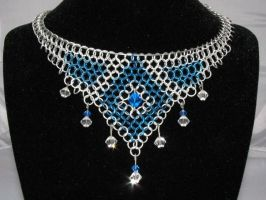 Chainmail Choker with Crystals by LittleCorax