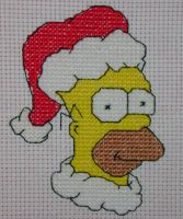 Christmas Homer by behindthesofa