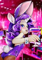 MLP Rarity Human BunnyGirl and Twilight Cocktail by skyshek