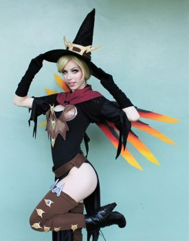 Overwatch - Witch Mercy by MeganCoffey