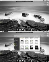 Black and White Desktop by nodeffect