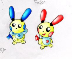 Minuky and Plusly by nintendo-jr