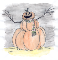 Pumpkin man by DemonCartoonist
