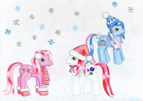 Playing in the snow by NormaLeeInsane