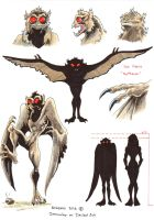 Cryptids sheet 02 Mothman by Dracowhip