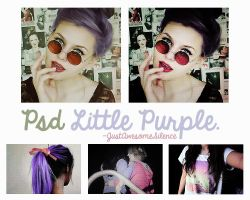 Psd Little Purple. by JustAwesomeSilence