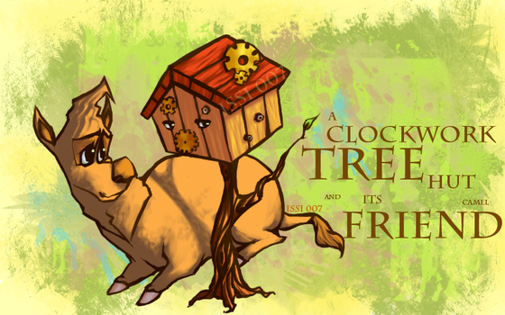 A Tree Hut and a Friend by issi007