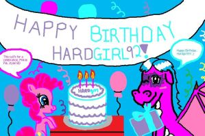 HAPPY BIRTHDAY HARDGIRL!!!!!!!!!! 8D by Penguinanthrogirl99