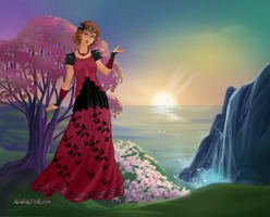Rose as a Greek Maiden by PiccoloFreakNamick
