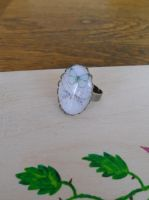Ring with blue butterfly by SteamJo