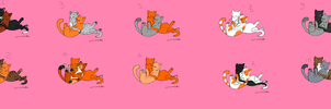 adoptables-couples warriors cats by danituco