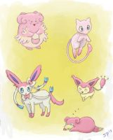 Pink Pokemon by MusicMew