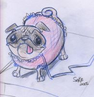 the Pug by AmySake