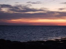 sunset on Morecambe bay by arran69