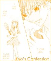 Kyo and Tohru. - Fruits Basket by Hnnachan