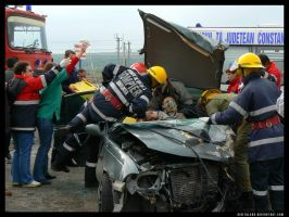 Photojournalism - car accident by digitalgod