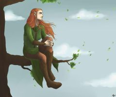 Tauriel of Mirkwood by AlyTheKitten