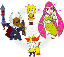 Assorted Chibis - Big and Bigger by Dragon-FangX