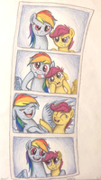 Dash and Scoots At the Photo Booth by TheFriendlyElephant