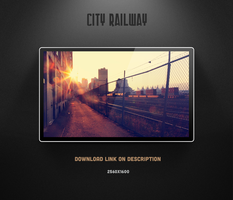 City Railway Wallpaper by theminimalisto