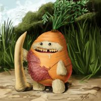 carrot hungry by invasionart