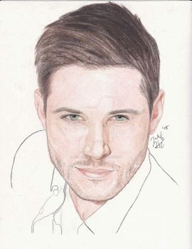 Jensen Ackles Drawing (Dean Winchester) by jeffa7xheiny