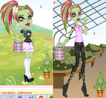 monster high black and white venus by sailorcosmos0