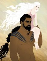 Drogo and Daenerys by tamiart